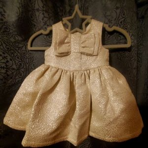 Carters Gold Holiday Dress 3m